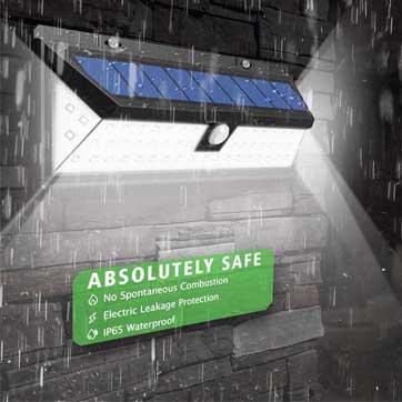 Външен сензор за движение Слънчева светлина