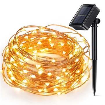 слънчева енергия медна тел нишка светлина