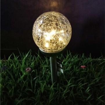 слънчева стъклена топка нишка светлина