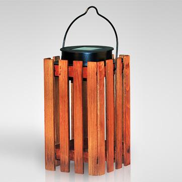 слънчева дървена фенера светлина